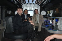 Inside the Hummer Limousin