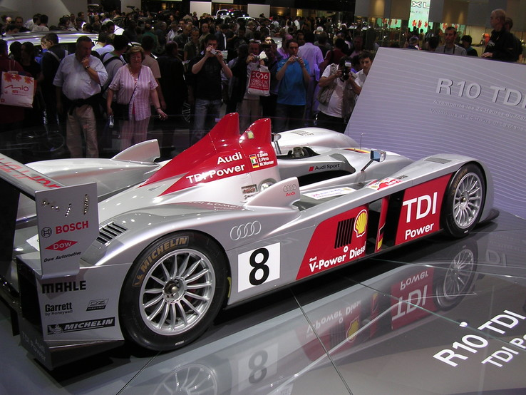 Audi R10 (flanc), photo de Paris